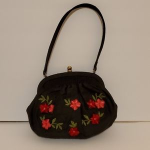 Talbots small embroidered and applique evening bag